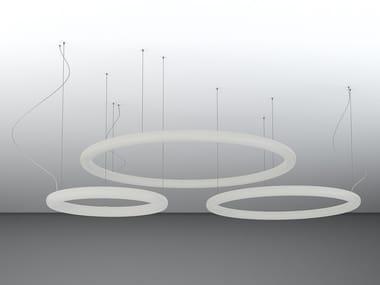 LED polyethylene pendant lamp GIOTTO