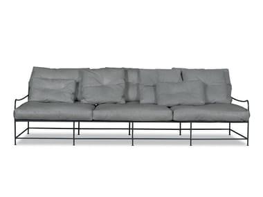 Leather garden sofa GIRGENTI | Garden sofa