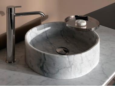 Countertop round marble washbasin GIRO | Round washbasin