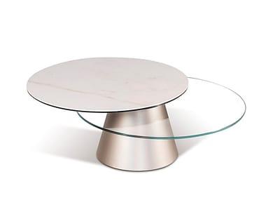 Extending ceramic coffee table GIROTONDO