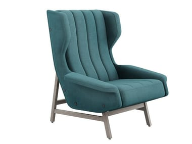 Fabric armchair with armrests GIULIA | Armchair