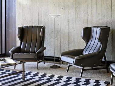Wing leather armchair GIULIA | Leather armchair