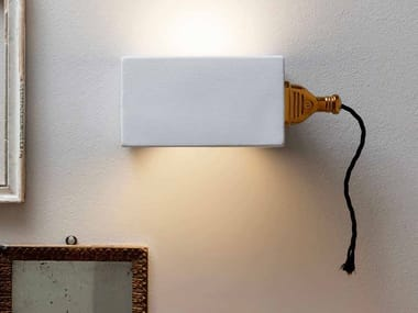 LED direct light ceramic wall light GIUSPINA