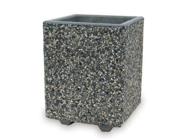 Fioriera realizzata in conglomerato di marmo e cemento GIZA
