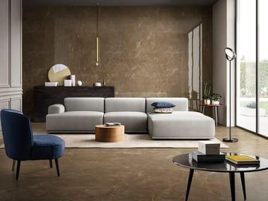 Pavimento/rivestimento in gres porcellanato effetto marmo GLAM BRONZE