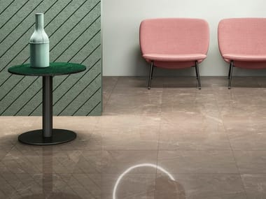 Porcelain stoneware wall/floor tiles with marble effect GLAM BRONZE