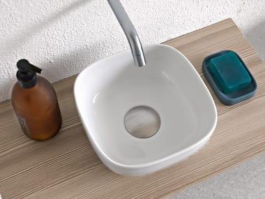 Countertop square ceramic washbasin GLAM | Square washbasin