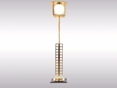 Brass floor lamp GLASGOW