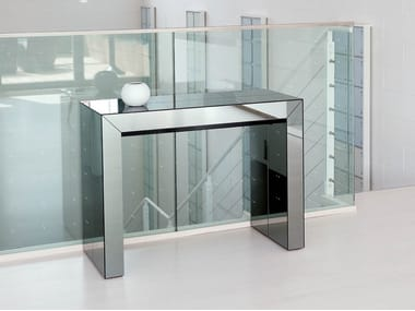 Extending rectangular crystal console table GLASS | Crystal console table