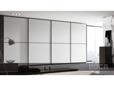 Lacquered glass wardrobe with sliding doors GLASS MIX BLANCO MATE