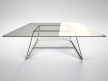 Square glass table GLASS   Square table