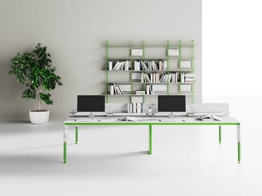 Multiple recycled material office workstation GLEB