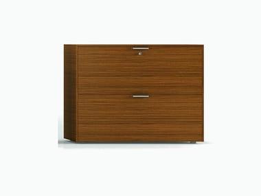 Mobile ufficio in legno impiallacciato con serratura ABA | Mobile ufficio