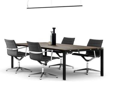 Tavolo da riunione in legno impiallacciato GLIDER | Tavolo da riunione