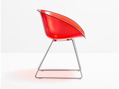 Sled base polycarbonate chair GLISS 921