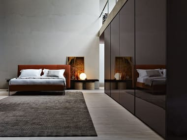 Sliding wood and glass cabinet door GLISS MASTER A FILO