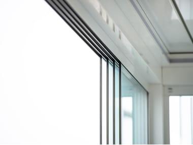 Sliding glass facade GLISSE