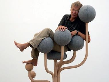 Ergonomic upholstered reception chair GLOBE GARDEN