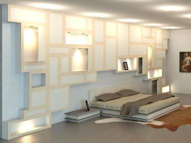 Boiserie in legno con illuminazione integrata GLOBE