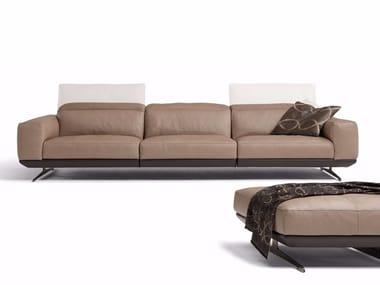 Recliner 3 seater leather sofa GLORIA | 3 seater sofa