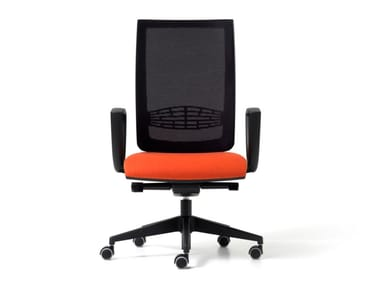 Mesh office chair with 5-Spoke base with armrests GOAL | Office chair with armrests