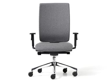 Fabric office chair with 5-Spoke base with armrests GOAL | Fabric office chair