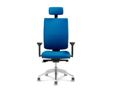 Fabric executive chair with 5-spoke base with armrests with headrest GOAL | Fabric executive chair