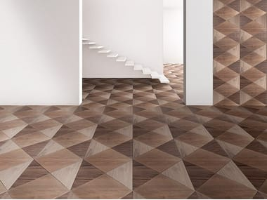 Walnut wall/floor tiles GODRON