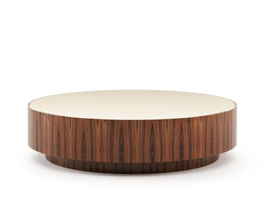 Round wooden coffee table GOLD | Coffee table