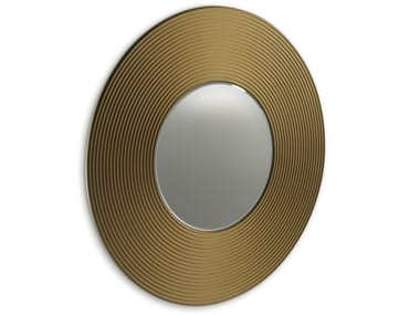 Round wall-mounted MDF mirror GONG A
