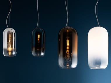 LED blown glass pendant lamp GOPLE | Pendant lamp