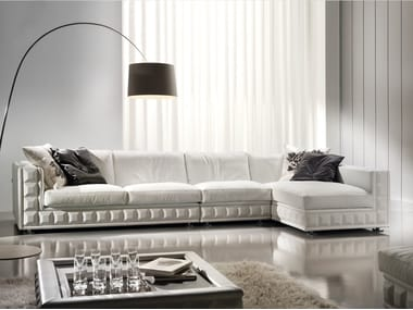 Divano componibile in tessuto con chaise longue GORDON PLUS | Divano componibile