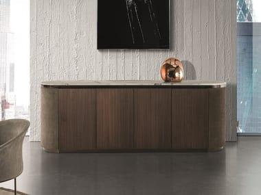 Solid wood sideboard GORDON WAVE