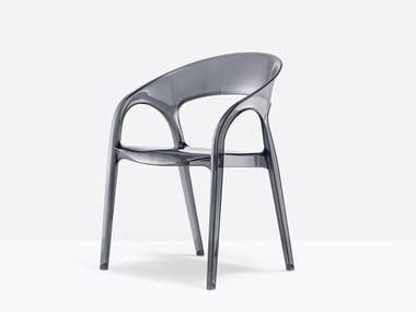 Polycarbonate chair GOSSIP