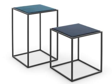 Tavolino quadrato in acciaio GOTHAM | Tavolino