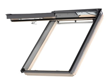 Top-hung Manually operated pine roof window GPL - NATURAL