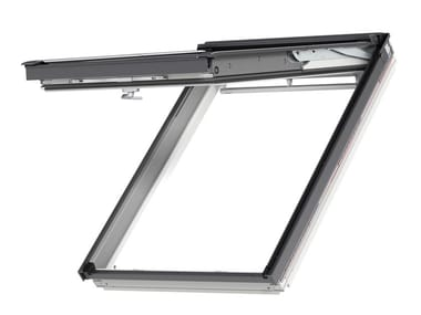Top-hung Manually operated wooden roof window GPL WHITE