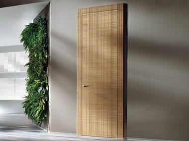 Hinged wooden door GRAFFIATA