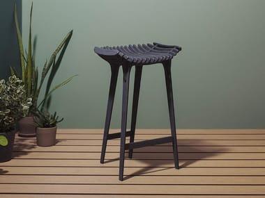 High HPL garden stool GRAFITE | High stool