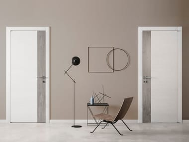 Hinged lacquered laminate door GRAIN | Lacquered door