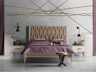 Bed with upholstered headboard GRAN DUCA | Bed with upholstered headboard