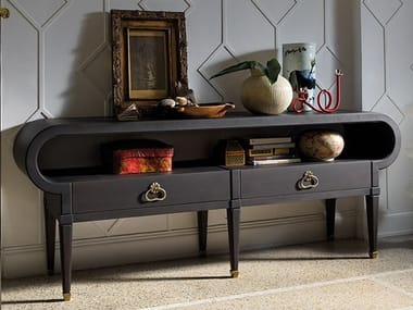 Rectangular oak console table with drawers GRAN DUCA | Console table with drawers