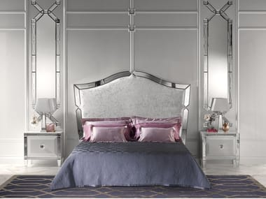 Bed with upholstered headboard GRAN DUCA GLOW | Bed