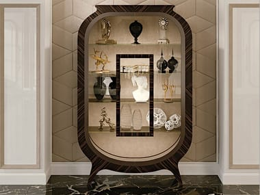Art Nouveau wood and glass display cabinet GRAN DUCA | Ebony display cabinet