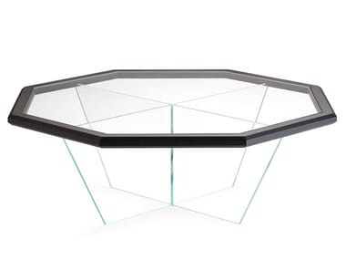 Octagonal glass coffee table for living room GRAN DUCA | Octagonal coffee table