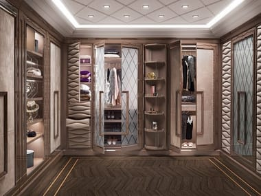 Wooden walk-in wardrobe GRAN DUCA | Walk-in wardrobe