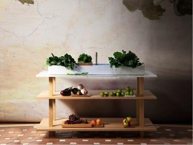 Oak & solid wood vanity unit GRAND ÉTABLI AUGE