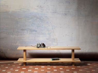 Oak & solid wood bench GRAND BANC | 浴室长凳