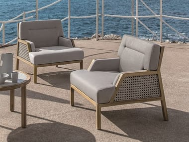Bergere garden armchair with armrests GRAND LIFE | Bergere garden armchair