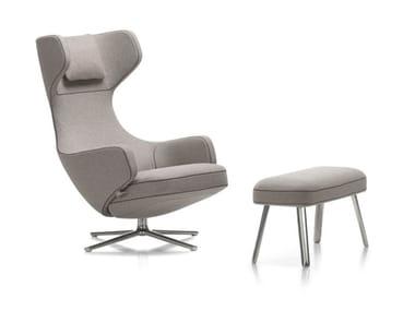 Wing swivel recliner armchair GRAND REPOS & PANCHINA